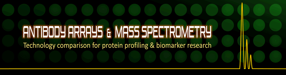 A Comparison of Antibody Arrays and Mass Spectrometry in Protein Profiling and Biomarker Research