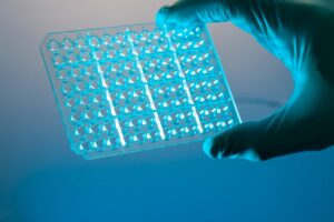 RT-qPCR can be high throughput with 96-well plates.